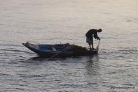 Ein Fischer am Nil
