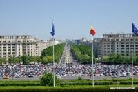 Der Boulevard der Einheit in Bukarest