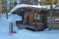 Blockhütte in Finnland