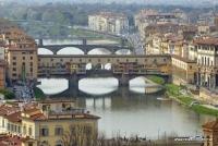 Die Ponte Vecchio in Florenz