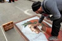 Ein Straßenkünstler in Florenz