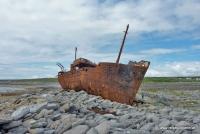 Schiffswrack auf der Insel Inisheer