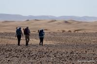 Wandern in der Sahara