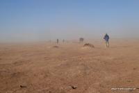 Wandern in der Wüste von Marokko