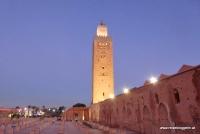 Das Minarett der Kutubiya Moschee in Marrakesch