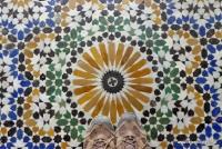 Der Mosaikboden im Bahia Palast in Marrakesch