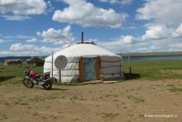 Eine Jurte in der Mongolei