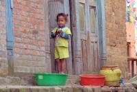 Ein Kind in Nepal