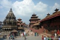 Der Tempelbezirk in Patan