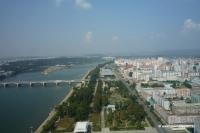 Blick über Pjöngjang