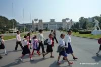 Schulkinder in Pjöngjang