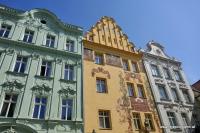 Die Gebäude am Hauptplatz in Pilsen