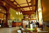 Im Jugendstilkaffeehaus in Pilsen