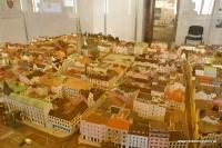 Ein Modell von Pilsen steht im Rathaus