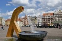 Einer von vier Stadtbrunnen in Pilsen