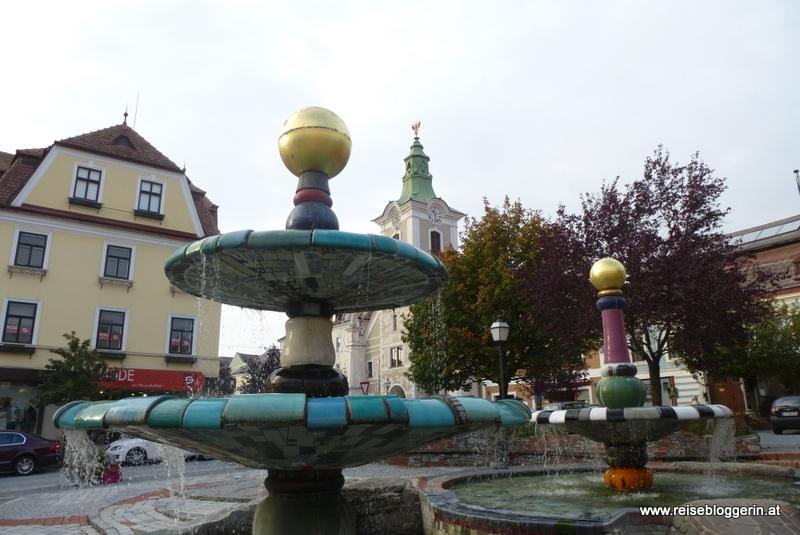 Der Hundertwasserbrunnen in Zwettl