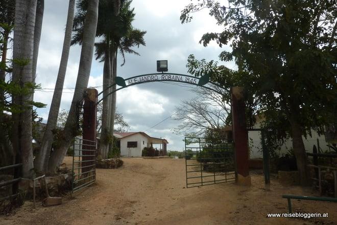 Die Tabakfabrik Casa Robaina in der Nähe von Pinar del Rio