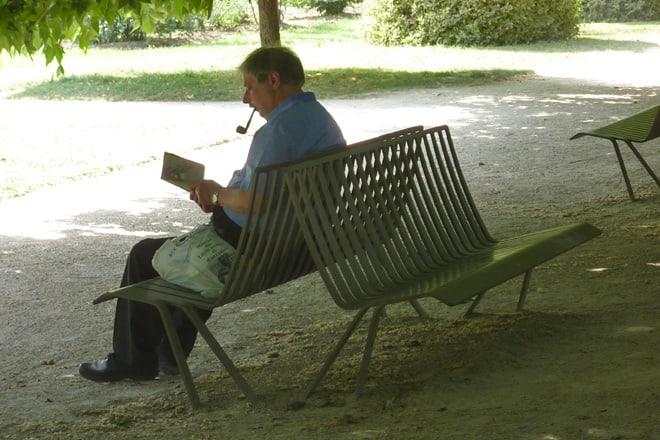 Ausruhen im Park Jardin des Plantes