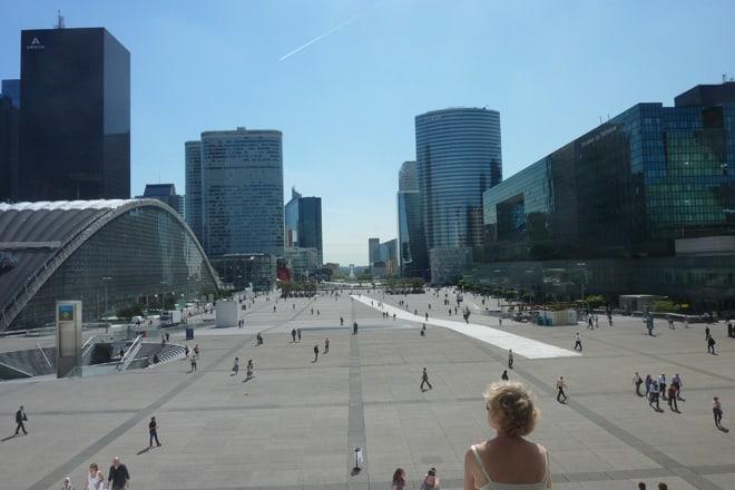 Blick in die Innenstadt bis zum Louvre