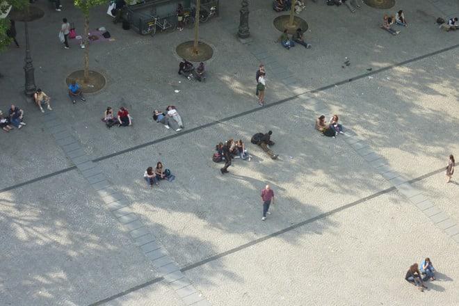 Vorplatz vom Centre Pompidou