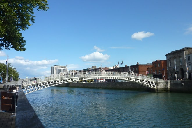 Halfpennybridge in Dublin
