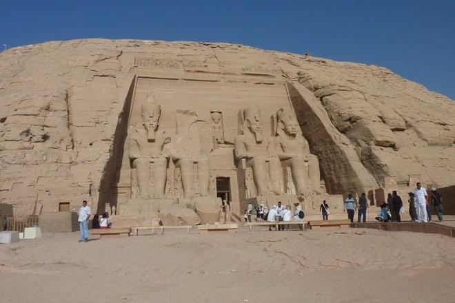 Der Tempel Abu Simbel in Ägypten