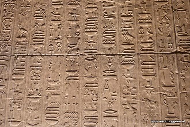 Hieroglyphen im Philae Tempel