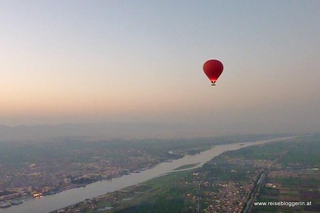 Eine Ballonfahrt in Luxor