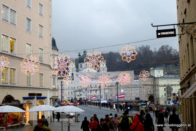 Weihnachtsbeleuchtung in Salzburg