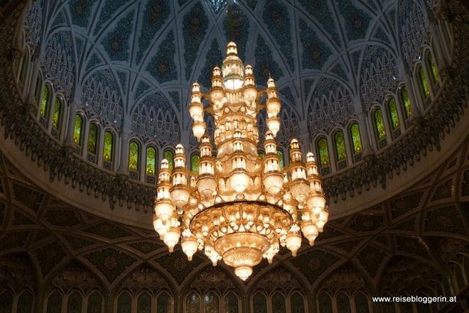 Der Luster in der Sultan Qaboos Moschee