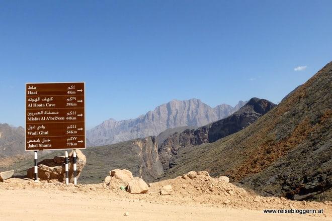Wegweiser im Oman