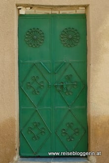grüne Tür im Oman