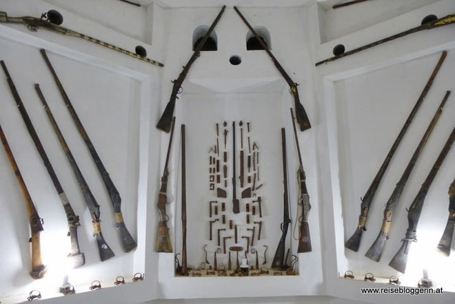 Waffen im Oman Museum