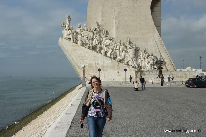 Die Reisebloggerin Gudrun Krinzinger in Lissabon, März 2012