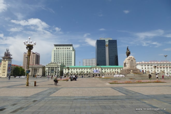 Süchbaatarplatz in Ulaanbaatar