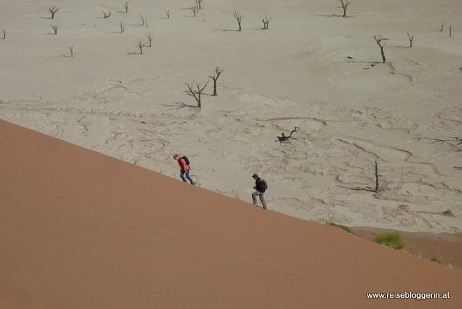 Dünenbesteigung in Nambia