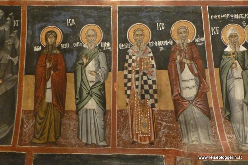 Bilder von Heiligen in der Kirche Christi Geburt