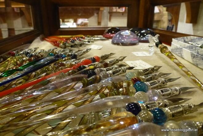 Schreibfedern aus Glas