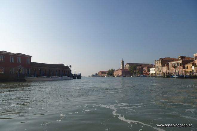 mit dem Vaporetto durch Murano