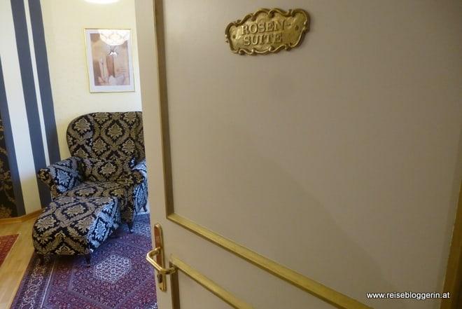 Die Rosensuite im Schlosshotel Rosenau