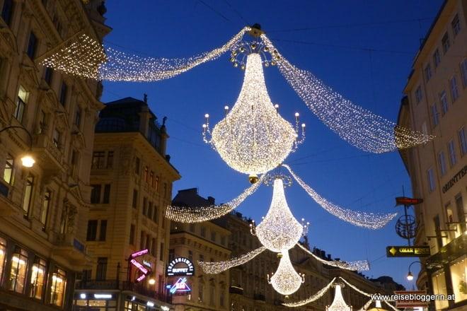 Weihnachtsbeleuchtung am Graben in Wien