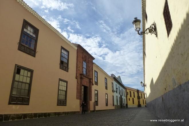 Mittelalterliche Häuser in La Laguna, Teneriffa