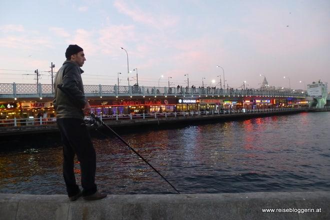Fischer an der Galatabrücke