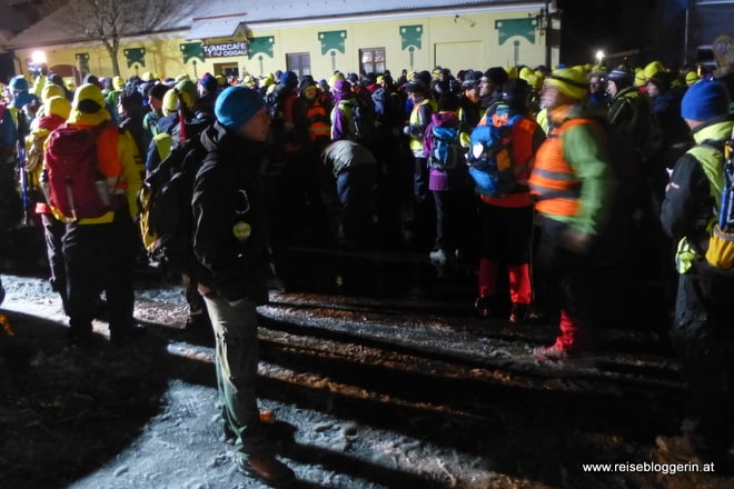 Der Start in Oggau um halb fünf Uhr früh
