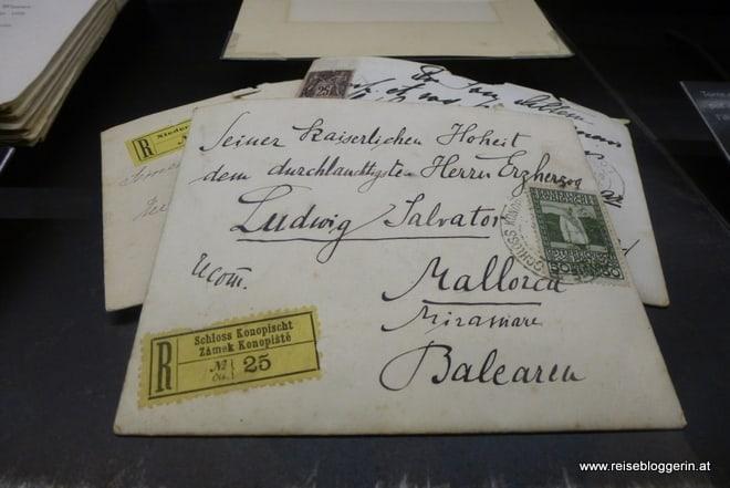 Briefumschlag adressiert an Ludwig Salvator