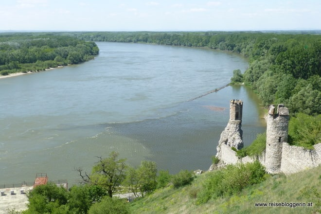 Blick auf die Donau und March