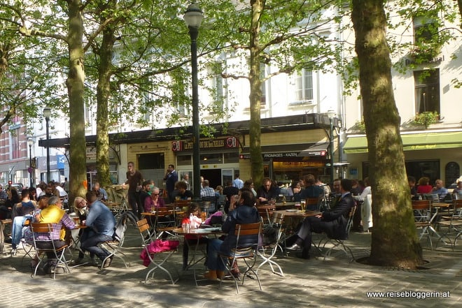 Der Gastgarten vom Café de Markten