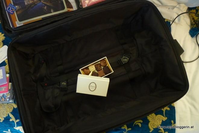 Mein Koffer mit Schokolade