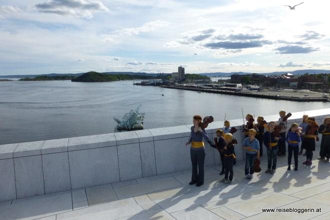 Ein Musikfest bei der Oper in Oslo