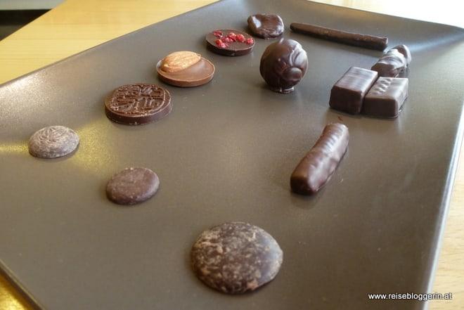 Schokoladeverkostung bei Laurent Gerbaud